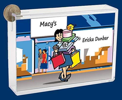 Personalized NTT Cartoon Side Slide Frame Gift: Shopping Spree Female Gift, Shopaholic, Loves to Shop