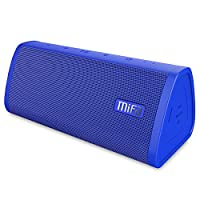 Bluetooth Speaker, MIFA A10 Portable True Wireless Stereo Soundbox, 16-Hour Playtime, IP45 Dustproof & Water-Resistant, 10W HD Sound & Bold Bass, TF Card Slot, Built-in Mic for iPhone iPad, Navy Blue