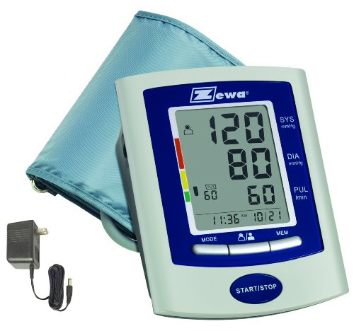 Zewa UAM-880UA Deluxe Automatic Blood Pressure Monitor With Universal Cuff (8.7 Inch To 18.9 Inch) and AC Adaptor (Deluxe Automatic Blood Pressure Monitor)