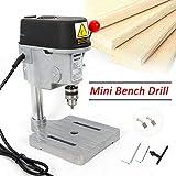 Mini Bench Drill, Mini Compact Wood Drilling Machine Multipurpose Portable 340W Drill Press Workbench for DIY Furniture