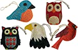 Loofah-Art 100% Natural Loofah Kitchen and Household Scrubber/Sponge, Fine Feathered Friends Assortment,Set of 5