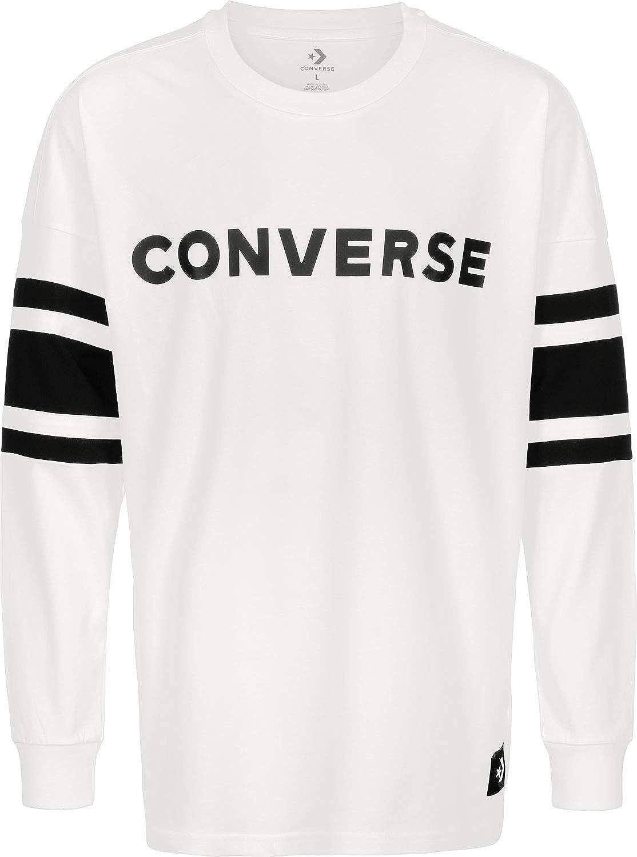 Converse Mens Football Jersey Weiss Langarmshirts: