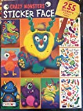 WOO! Crazy Monsters Sticker Book 255 Stickers 32 Face Pages Age 3+ New Edition