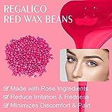 Regalico DIY Waxing Kit, Pre & After Wax Spray, Wax Warmer with 14oz Wax Beans (4 bags), 30 Wax Sticks