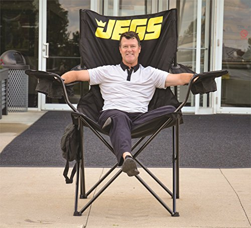 JEGS 2005 Black Folding Captain's Chair with JEGS Logo
