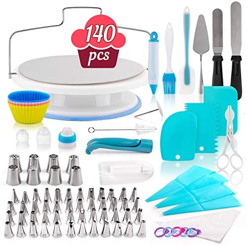 140 Piece Cake Decorating Kit Stainless product image