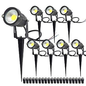 CHINLY 5W LED Landscape Lights Low Voltage Outdoor Spotlight Warm White 3000K DC 12V 24V Waterproof Decorative Lamp For…