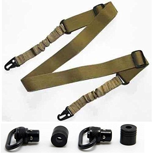 Ultimate Arms Gear Two QD Push 1'' Inch Slot Loop with Bases Stud Free Profile + Two-Point Sling, Tan AR15, AR-15, M4, M-4, M16, M-16 .223 5.56 556 .308 by Ultimate Arms Gear (Image #9)