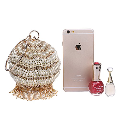 Ball Bag Silver Bag Fashion Handbag GROSSARTIG Banquet Evening Tassel Women's zqR6z0xwX