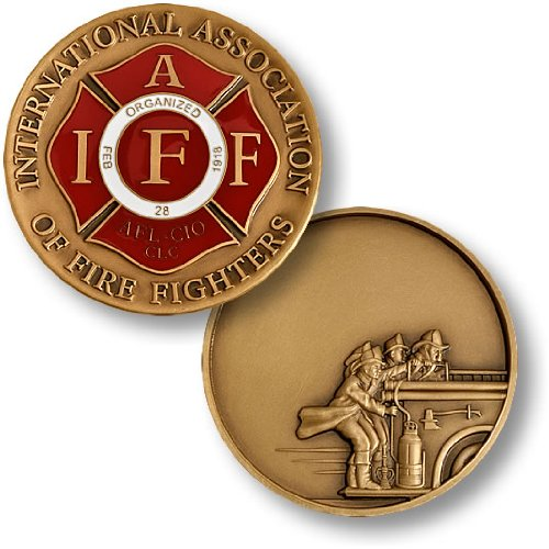IAFF Seal Fire Heritage Engravable Challenge Coin
