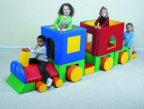 Children's Factory Little Train with Caboose Classroom Furniture Climber for Kids Indoor Climber