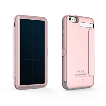 Idmix iPhone 6S Plus energía Solar recargable caso, iPhone 6 ...