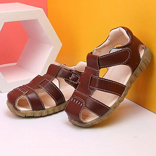 Jamicy® Kinder Sandalen, Baby Jungen Mädchen Sommer Strand Casual Soft Leder Sandalen Schuhe Braun