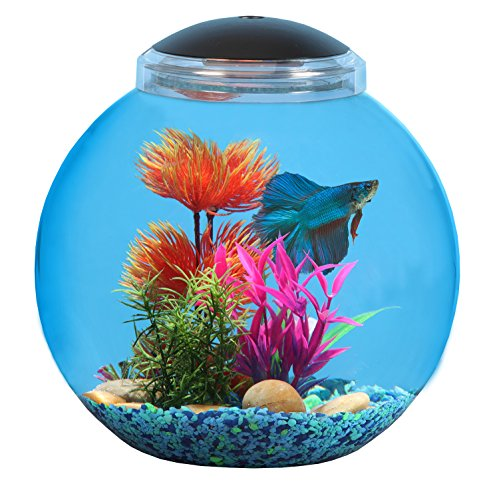 KollerCraft 3 Gallon Betta Fish Bowl with LED Lighting