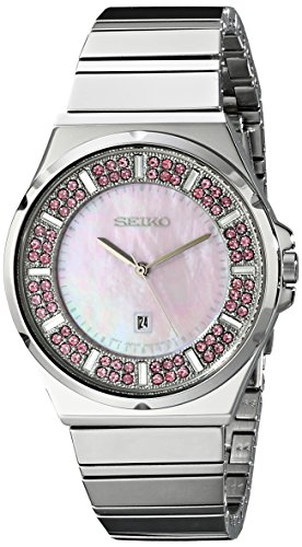 Seiko Womens SXDG13 Matrix Analog Display Japanese Quartz Silver Watch