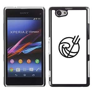 Be Good Phone Accessory // Dura Cáscara cubierta Protectora Caso Carcasa Funda de Protección para Sony Xperia Z1 Compact D5503 // Neptune king
