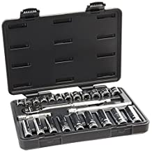 GearWrench 80559 24 Piece 3/8-Inch Drive Metric Socket Set (Standard/Deep)