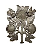 it's cactus - metal art haiti Spring Birds and Flowers, Garden Patio Yard Art, Handmade in Haiti 8.5'' x 11''