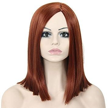 Amazon Com Deniya Beautiful Red Hair Wig Shoulder Length Wigs For