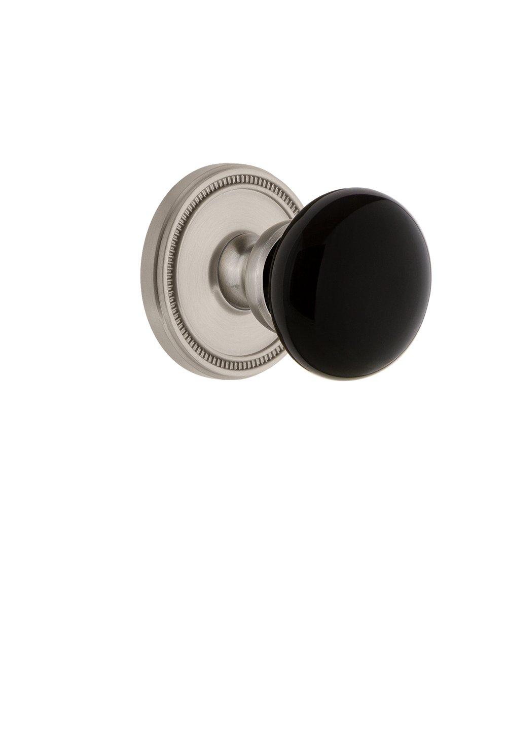 2.75 Polished Brass Grandeur Hardware 853051 Soleil Rosette with Coventry Knob Privacy Backset Size