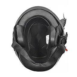 Motorcycle Street Half Helmet DOT with Adjustable Muzzle - VADER (S, Carbon Fiber)