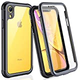 Wireless : FITFORT iPhone XR Case Full Body Rugged Case with Built-in Touch Sensitive Anti-Scratch Screen Protector, Ultra Thin Clear Shock Drop Proof Impact Resist Extreme Durable Protective Cover