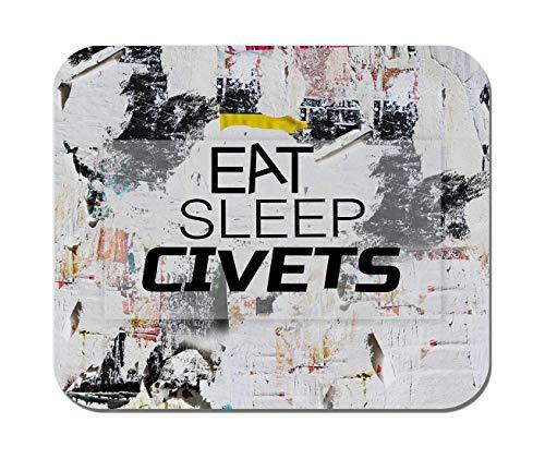VANKINE,EAT Sleep Civets Animal,Non-Slip Rubber Mousepad, Personalized Gaming Office Mousepad ()