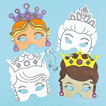 Masken Zum Basteln Und Ausmalen Prinzessin Fur Kinder Ideal Zum