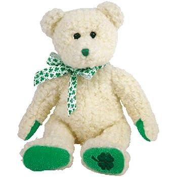 Amazon.com  Ty Attic Treasure Blarney Bear with Green Irish Clover ... 89551cd84be5