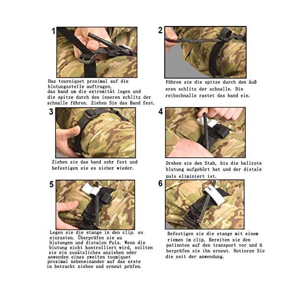 BEIAOSU Torniquete 2PCS Cinturón de Primeros Auxilios Torniquetes Tactico para el Control de la Pérdida de Sangre Senderismo para Exteriores 7
