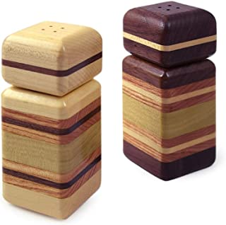 product image for American Made 'Urban Stripe' Mixed Wood Salt and Pepper Shaker Set