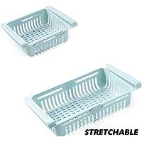WE-WIN Refrigerador Cesta de Almacenamiento de plástico Organizador