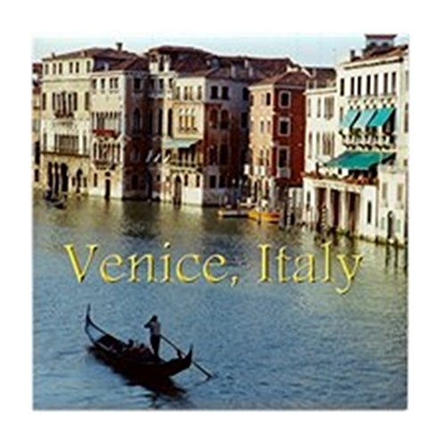 CafePress - Venice Italy Souvenir Gondola Ride Ph - Tile Coaster, Drink Coaster, Small Trivet