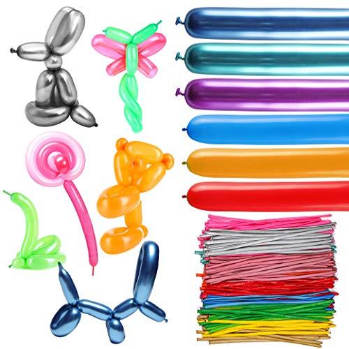 Halloween Balloon Animals - WATINC 200pcs Long Balloons, Assorted Color