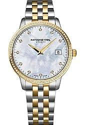 Raymond Weil Toccata MOP Diamond Dial SS Quartz Ladies Watch 5388-SPS-97081