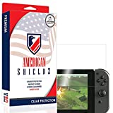 [USA] Nintendo Switch Screen Protector, American Shieldz Full Coverage Screen Edge-to-Edge, Invisible Clear HD Shield Anti-Bubble, Lifetime Replacements