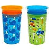 Munchkin Miracle 360 - Vaso para sippy, 9 oz, 2 unidades, Azul/Verde, 2 unidades