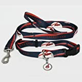 Cleveland Indians Pet Set Dog Leash Collar ID Tag SMALL