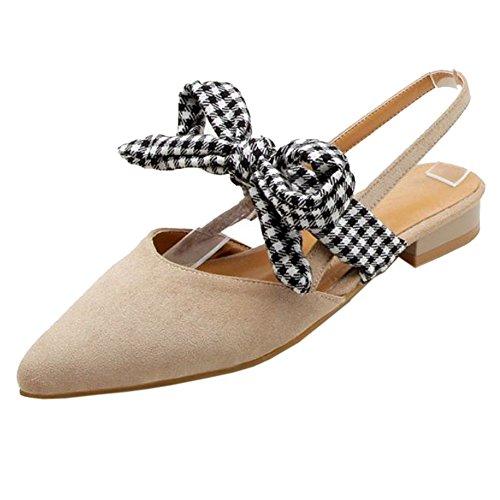 Comfort Sandali 99 Donna RAZAMAZA Beige su Basse Scivolare xvt1ggwnz