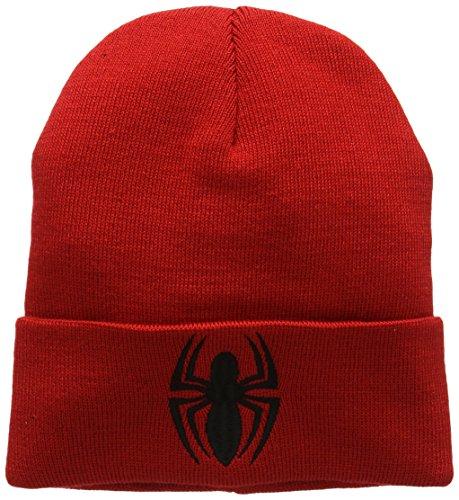 Talla Punto Adulto Marvel única Rosso de Man Spider Unisex Logo Kids Gorro YxpTBwvqHp