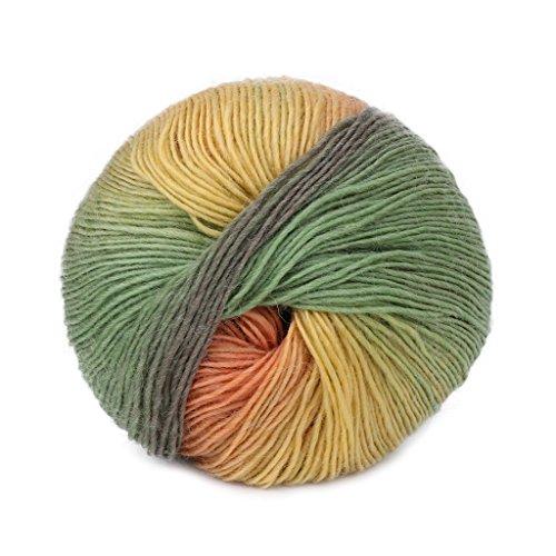 Susada 1Ball 50g Mini Hand-woven Rainbow Colorful Crochet Cashmere Wool Blend Yarn Knitting (034)