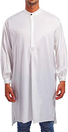 Hoverwin - Vestido árabe para Hombre, de Manga Larga, Estilo árabe, Blanco, XX-Large: Amazon.es: Hogar