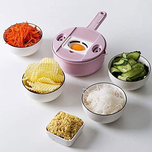JZCXXJ Multifunktions-Gemüseschneider Küche Stahlklinge Reibe Runde Mandolinenschneider Kartoffelschneider Küchengerät