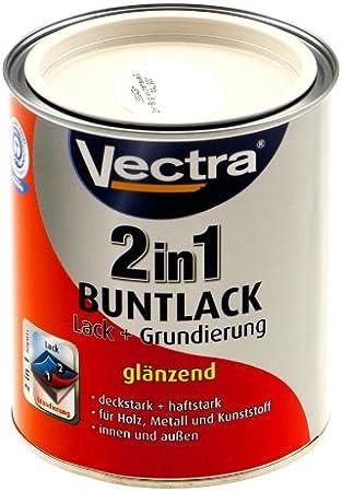 Vectra 2761 2 in1 Multicolor esmalte esmalte + Imprimación Color Crema RAL 9001 brillante 750 ml (WL1)