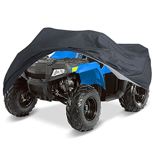 (NEVERLAND 210D Durable ATV Storage Cover Waterproof Sun UV Protective Universal fits Polaris Sportsman Honda Foreman Yamaha Grizzly Kawasaki Bayou Can-Am Suzuki XL)