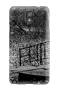 [OxhCCye3439NBsSC] - New Trees Photography Park Stairs Blackandwhite B/w Black And White People Photography Protective Galaxy Note 3 Classic Hardshell Case
