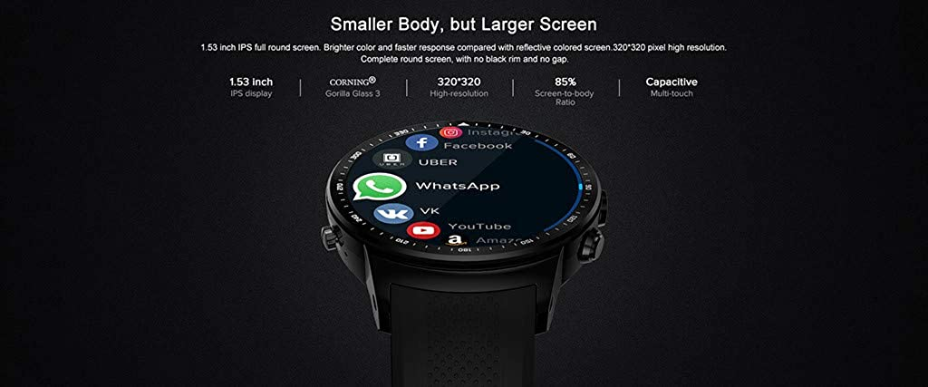 ⌚⌚Reloj Inteligente SmartWatch, Redondo con Podómetro de ...
