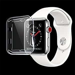 Apple Watch 3/2 Screen Protector, ULOE iwatch Cover TPU All-around 0.3mm Ultra-thin Case for Apple Watch Series 3/2 38mm (2017)