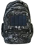 VIVO Solar Bag 2.4W Powered Backpack with Battery Portable Charger in Urban Camo (BAG-SP-01U)