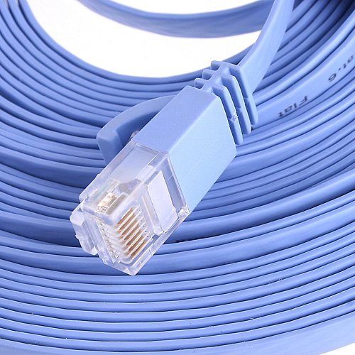 KINGZER RJ45 Cat6 Ethernet Network Cable High Speed Flat LAN Cable 10M //33FT